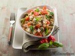 Жареный рис с тофу и овощами