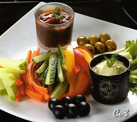 Закуска из свежих овощей