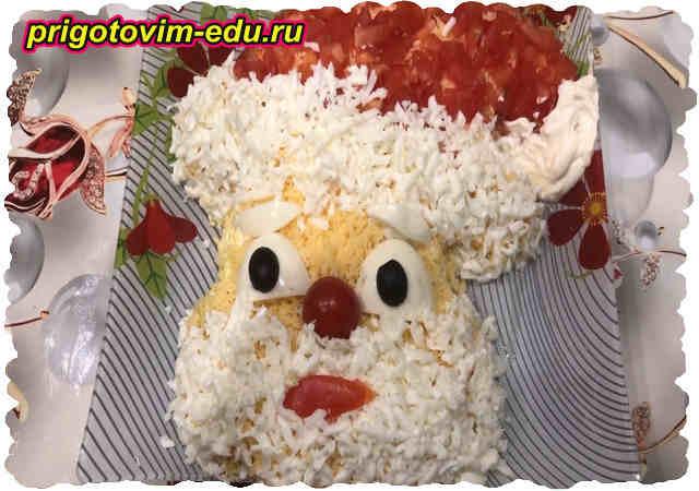 Салат из сыра с помидорами и яйцом. Видео рецепт