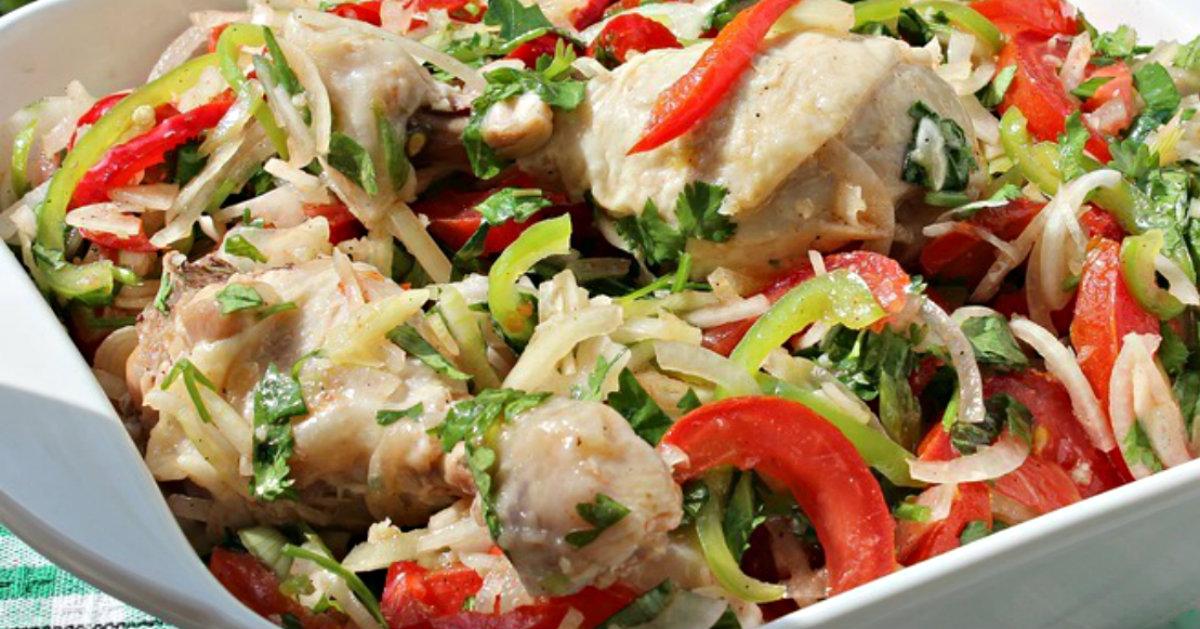 Салат с вареной курицей по-дунгански — вкусный рецепт